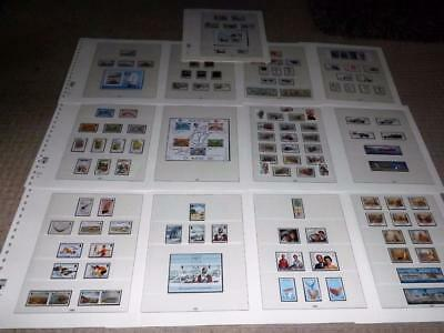 Isle Of Man-1986 To 1989-4 Years Complete Sets+Sheets+Defins To £2 -F/used