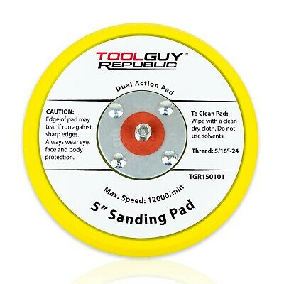 "TGR 5"" Low Profile Hook and Loop Sanding Backup Pad - For Random Orbital Sanders"