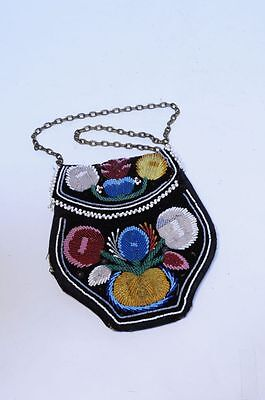 Antique Iroquois Indian Beaded bag  - c. 1890