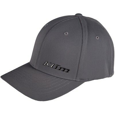 Klim Adult Stealth Fitted Flex Fit Baseball Cap Hat - Gray - 3993-000-1_0-660