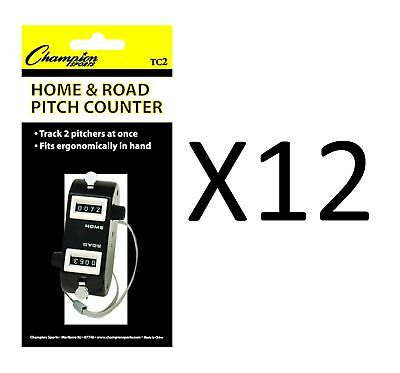 Champion Home/Road Dual Baseball And Softball Pitch Tally Counter (12-Pack)