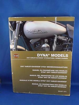 Harley Davidson International Owners Manual 2007 Dyna Models Record Cards