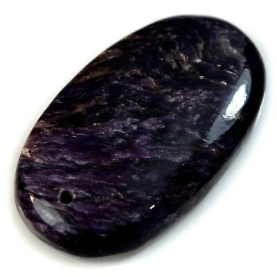 Natural Russian Charoite FRONT DRILLED Oval Pendant Bead Collection
