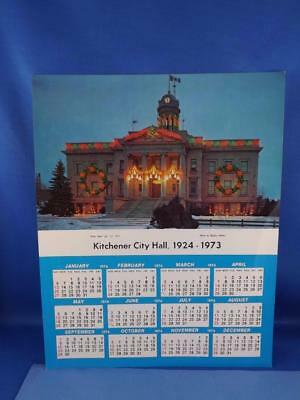 Calendar Kitchener City Hall 1924-1973 Vintage