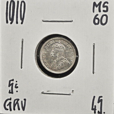 1919 Canada 5 cents silver MS-60