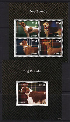 Ghana 2014 Dog Breeds Sheetlet 4 + M/S MNH
