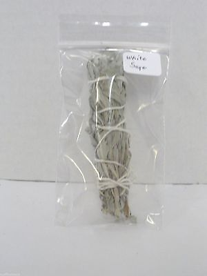 "Shaman Smudge Stick - 4"" - White Sage - Mini Smudge"