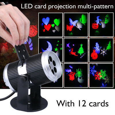 Projector Lights 12 Patterns LED Laser Lamp Christmas Party Garden Fairy Decor