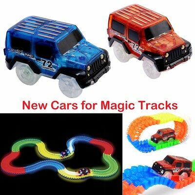 New Cars for Magic Tracks Glow in the Dark Amazing Racetrack Light Up Race Car
