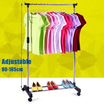 Portable Stainless Steel Clothes Organizer Hanger Rack Garment Coat Dryer