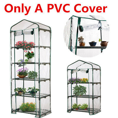 4-Tier PVC Cover Apex Garden Greenhouse Tall Green Plant House Shed Storage  Hot