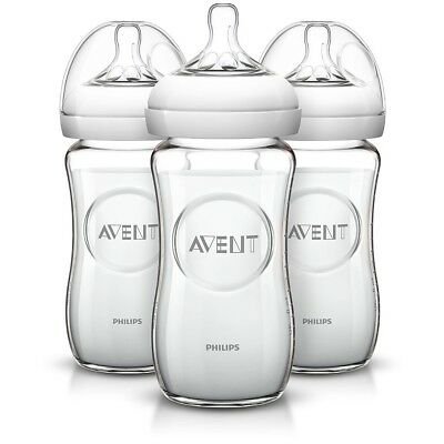 Philips AVENT - Natural 8 oz Glass Bottle, 3-Pack
