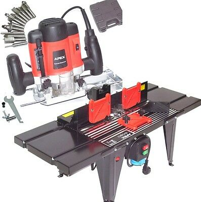 55692 Plunge Router 1300W +  55693 Table Kit, Variable Speed, 12 Bits