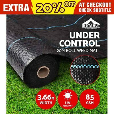 0.915m x 100m Weedmat Weed Control Mat Woven Fabric Gardening Plant PE