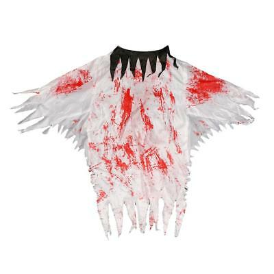 Prank Bloody White Dress Zombie Ghost Costume Adults Halloween Dress Up