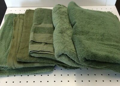 Army Surplus Olive Green Towels