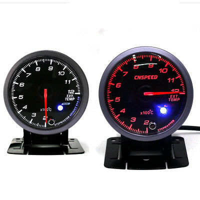 "2.5"" 60MM LED EGT EXT Exhaust Gas Temperture Temp Gauge Meter Pointer Pod Holder"