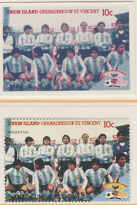 St Vincent Union Island 5521 - 1986 WORLD CUP FOOTBALL 10c CROMALIN PROOF