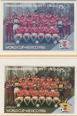 St Vincent Union Island 5522 - 1986 WORLD CUP FOOTBALL 75c CROMALIN PROOF