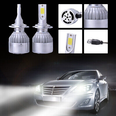 2X 110W 20000LM LED Phare de voiture Headlight KIT Ampoule H7 6500K Blanc LD974