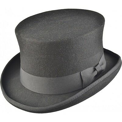 High Quality Mens Vintage Victorian Edwardian style 100% Wool Top Hat