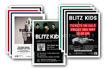 BLITZ KIDS - 10 promotional posters  collectable postcard set # 1