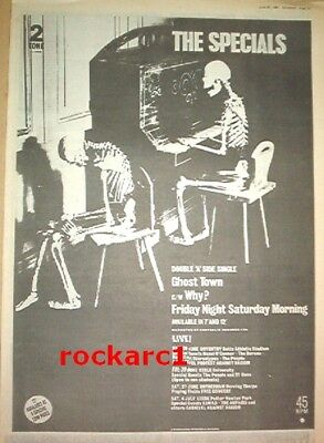 SPECIALS Ghost town 1981 UK Poster size Press ADVERT 16x12 inches