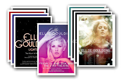 ELLIE GOULDING - 10 promotional posters  collectable postcard set # 1