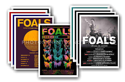 FOALS - 10 promotional posters  collectable postcard set # 1