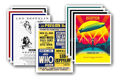 LED ZEPPELIN - 10 promotional posters  collectable postcard set # 1