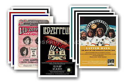 LED ZEPPELIN - 10 promotional posters  collectable postcard set # 2