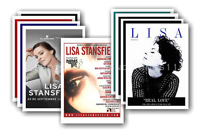 LISA STANSFIELD - 10 promotional posters  collectable postcard set # 1