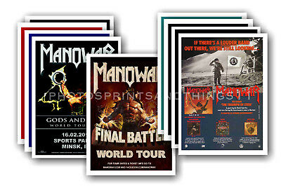 MANOWAR - 10 promotional posters  collectable postcard set # 1