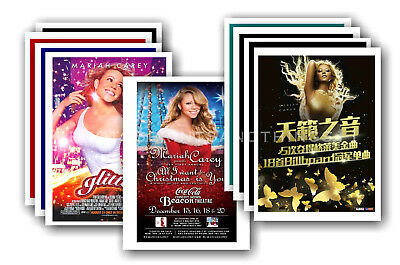 MARIAH CAREY - 10 promotional posters  collectable postcard set # 1