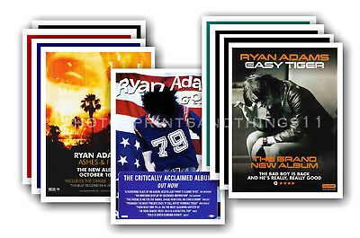 RYAN ADAMS - 10 promotional posters  collectable postcard set # 1