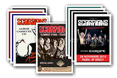SCORPIONS - 10 promotional posters  collectable postcard set # 2
