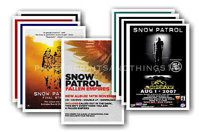 SNOW PATROL - 10 promotional posters  collectable postcard set # 1