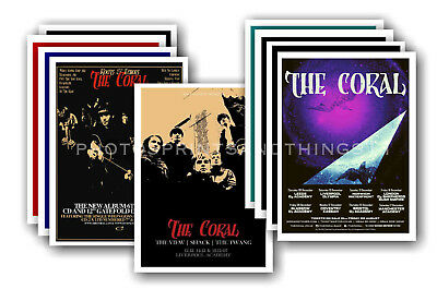 THE CORAL - 10 promotional posters  collectable postcard set # 1