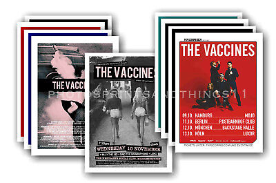 THE VACCINES - 10 promotional posters  collectable postcard set # 1