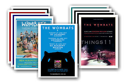 THE WOMBATS - 10 promotional posters  collectable postcard set # 1