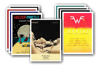 WEEZER - 10 promotional posters  collectable postcard set # 1