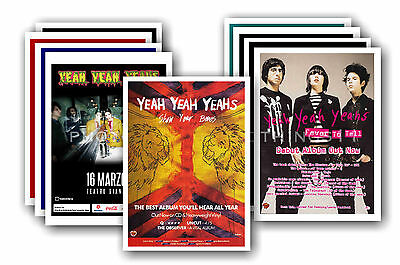 YEAH YEAH YEAHS - 10 promotional posters  collectable postcard set # 1