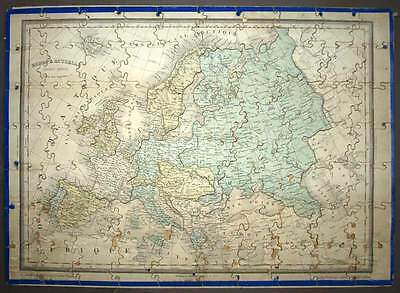 Puzzle Jigsaw Geographical Wood of the Continent of Europe Fine 19eme Century