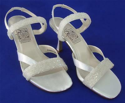 NEW Special Occasions by Saugus Shoe EVELYN 5130 White Satin Size: 5M
