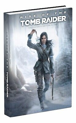 RISE OF THE TOMB RAIDER Collector's Edition Strategy Guide + KeyChain Cards NEW