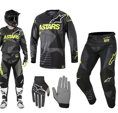 Alpinestars Race Tactical MX Combo 2018 Hose Shirt schwarz gelb