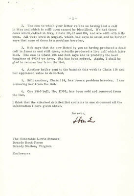 Dwight D. Eisenhower - Typed Letter Signed 09/01/1966