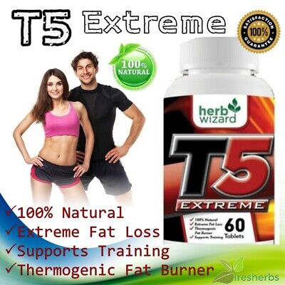 T5 Fat Burner Capsules Pure Strongest Legal Slimming Pills Diet Weight Loss