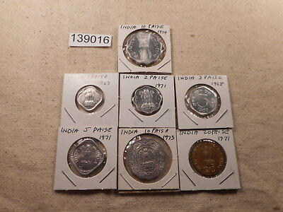 Lot - India - Seven Coins Catalog Value Appr $90 Nice Collector Grade - # 139016