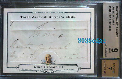 2008 Allen & Ginter Cut Auto: King George Iii 3Rd #1/1 Of Autograph Royalty Uk